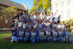 "Aarhus pigekor efter ""Female Choir""- kategorien er veloverstået. Sydafrika 2018"